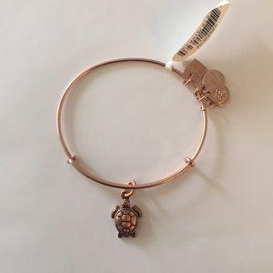 Alex and Ani Sea Turtle Rose Gold Charm Bracelet